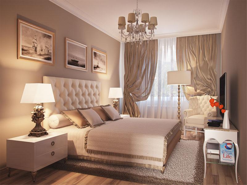 Дизайн проект спальни 17 кв м
