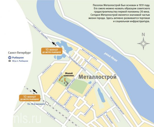 м рыбацкое на карте санкт-петербурга
